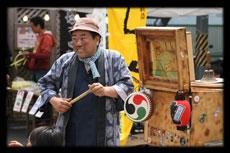 街頭紙芝居芸人三ッ沢グッチの活動